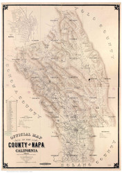 Napa County California 1895 Copy 1 - Old Map Reprint