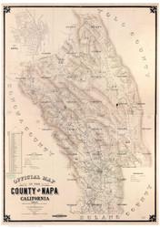 Napa County California 1895 Copy 1 - Old Map Reprint
