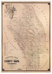 Napa County California 1895 Copy 2 - Old Map Reprint