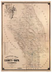 Napa County California 1895 Copy 2 - Old Map Reprint