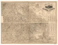 Plumas County California 1892 - Old Map Reprint