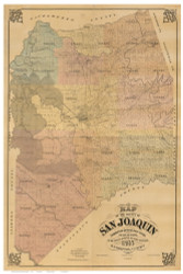 San Joaquin County California 1895 - Old Map Reprint