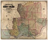 Solano County California 1890 - Old Map Reprint