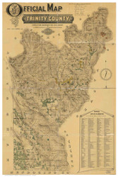 Trinity County California 1894 - Old Map Reprint