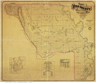 Yolo County California 1871 - Old Map Reprint