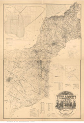 Yuba County California 1887 - Old Map Reprint