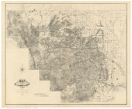 Larimer County Colorado 1883 - Old Map Reprint