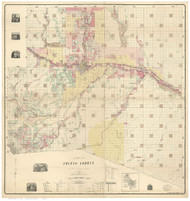 Pueblo County Colorado 1888 - Old Map Reprint