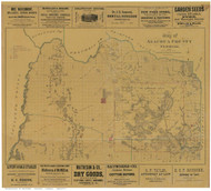 Alachua County Florida 1880 - Old Map Reprint
