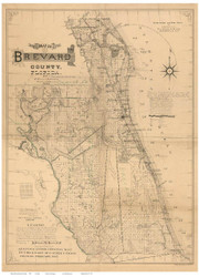 Brevard County Florida 1893 - Old Map Reprint