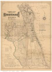 Brevard County Florida 1893 - Old Map Reprint