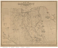 Marion County Florida 1885 - Old Map Reprint