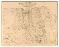 Marion County Florida 1887 - Old Map Reprint