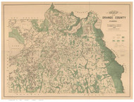 Orange County Florida 1890 - Old Map Reprint