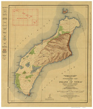 Island of  Niihau - Hawaii 1929 Old Map Reprint