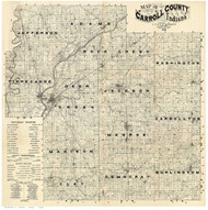 Carroll County, Indiana 1897 - Old Map Reprint