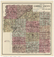 Carroll County, Indiana 1898 - Old Map Reprint