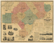 Clark County, Indiana 1875 - Old Map Reprint