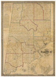 Dearborn County, Indiana 1860 - Old Map Reprint