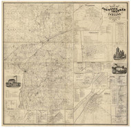 Fountain & Warren Counties, Indiana 1865 - Old Map Reprint