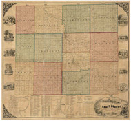 Grant County, Indiana 1861 - Old Map Reprint