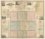 Hamilton County, Indiana 1866 - Old Map Reprint