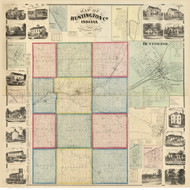 Huntington County, Indiana 1866 - Old Map Reprint