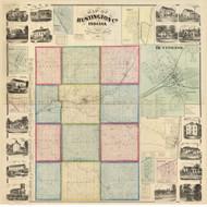 Huntington County, Indiana 1866 - Old Map Reprint