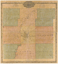 Marion County, Indiana 1855 - Old Map Reprint