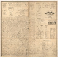Montgomery County, Indiana 1864 - Old Map Reprint