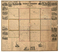 Noble County, Indiana 1860 - Old Map Reprint