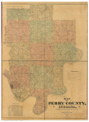 Perry County, Indiana 1894 - Old Map Reprint