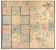 Putnam County, Indiana 1864 - Old Map Reprint
