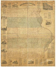 Allamakee County Iowa 1872 - Old Map Reprint