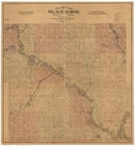 Black Hawk County Iowa 1887 - Old Map Reprint