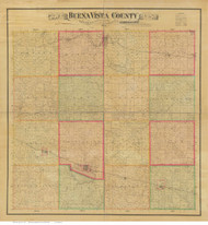 Buena Vista County Iowa 1884 - Old Map Reprint