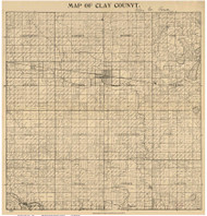 Clay County Iowa 1896 - Old Map Reprint