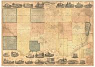 Clinton County Iowa 1865 - Old Map Reprint