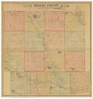 Dallas County Iowa 1883 - Old Map Reprint