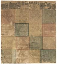 Delaware County Iowa 1869 - Old Map Reprint