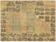 Jackson County Iowa 1867 - Old Map Reprint