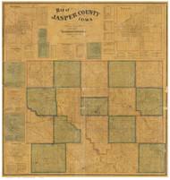 Jasper County Iowa 1871 - Old Map Reprint