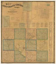 Jefferson County Iowa 1871 - Old Map Reprint
