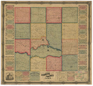 Keokuk County Iowa 1861 - Old Map Reprint