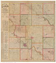 Linn County Iowa 1881 - Old Map Reprint