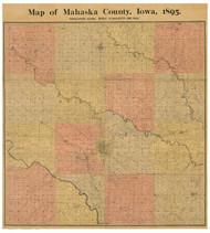 Mahaska County Iowa 1895 - Old Map Reprint