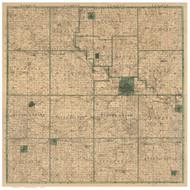 Marshall County Iowa 1896 - Old Map Reprint