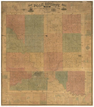 Polk County Iowa 1872 - Old Map Reprint