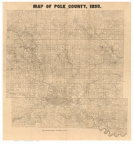 Polk County Iowa 1895 - Old Map Reprint