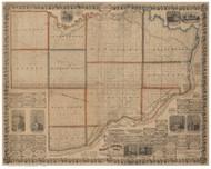 Scott County Iowa 1860 - Old Map Reprint